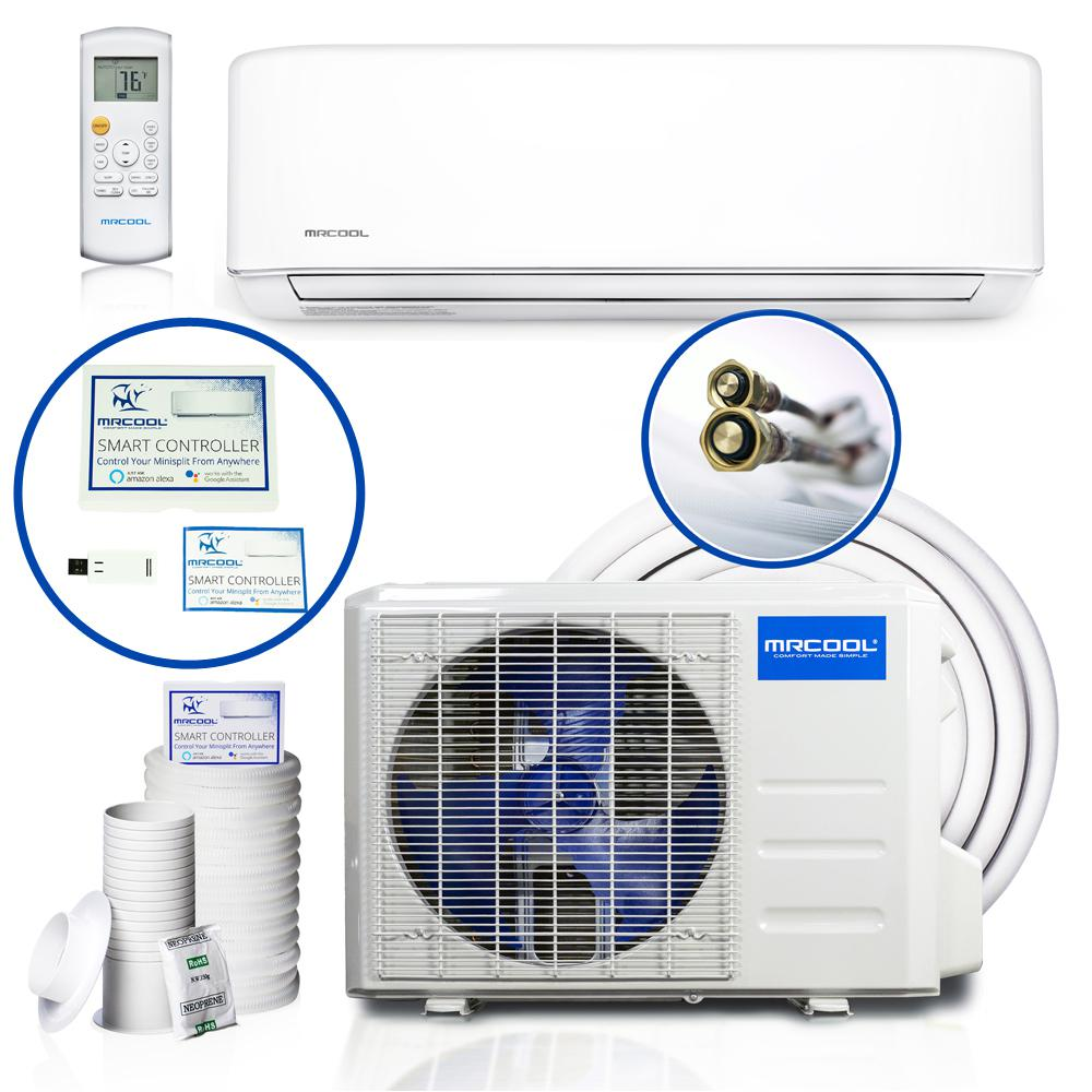MRCOOL DIY Enhanced 18,000 BTU 1 5 Ton Ductless Mini-Split Air Conditioner  and Heat Pump - 208-230V/60Hz