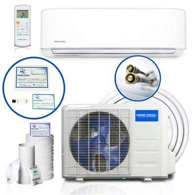 DIY Enhanced 24,000 BTU 2 Ton Ductless Mini-Split Air Conditioner and Heat Pump - 208-230V/60Hz
