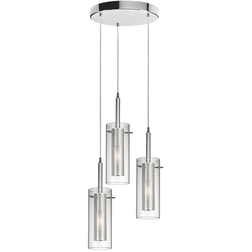 Tech Lighting Home Depot: Radionic Hi Tech Nella 3-Light Polished Chrome Round