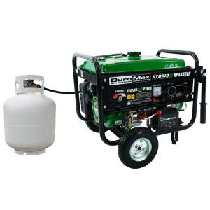Click here to buy Duromax 4,850-Watt Dual Fuel Propane/Gas Powered Electric Start Portable Generator by Duromax.