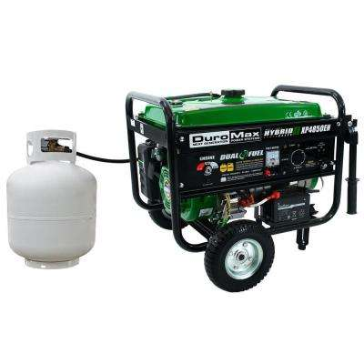 4,850-Watt Dual Fuel Propane/Gas Powered Electric Start Portable Generator