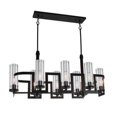 8-Light Dark Java Brown Chandelier