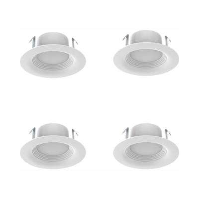 4 in. White Integrated LED Recessed Trim (3-Pack)