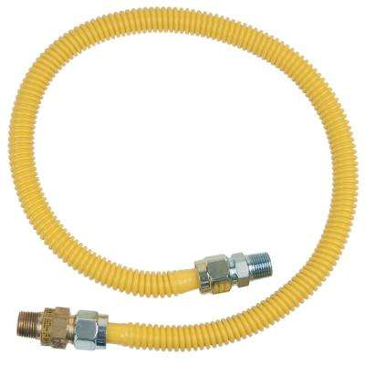 1/2 in. MIP x 1/2 in. MIP x 36 in. Gas Connector (5/8 in. OD) w/Safety+Plus2 Thermal Excess Flow Valve (107,000 BTU)
