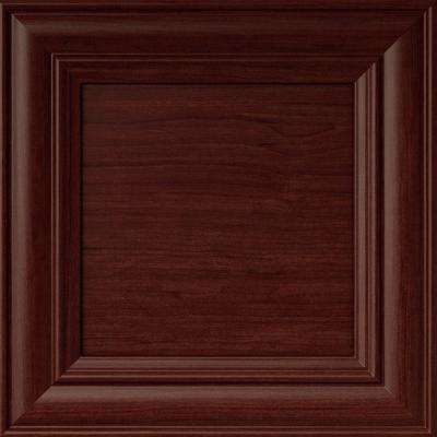 12.75x12.75x.75 in. Verona Ready to Assemble Cabinet Door Sample in Cherry