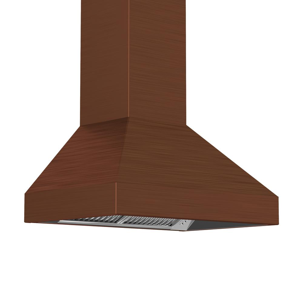 Zline Kitchen And Bath 30 In Wall Mount Range Hood Copper