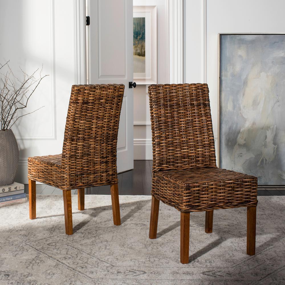 safavieh sanibel brown mango wood side chair set of 2 fox6504a set2 the home depot. Black Bedroom Furniture Sets. Home Design Ideas