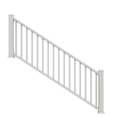 Select White 3 Ft. Vinyl Stair Rail ...
