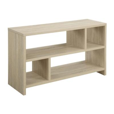 Designs2Go Northfield Weathered White Shelved Entertainment Center