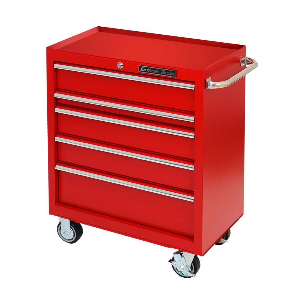Extreme Tools 30 in. 5-Drawer Standard Roller Cabinet Tool Chest ...