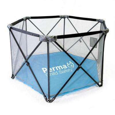 27 in. H Pop-Up Portable Fabric Playpen, Travel Play Yard