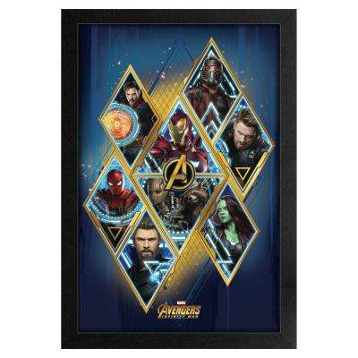 Avengers -Infinity War-Avengers in Diamonds 11x17 Framed Print