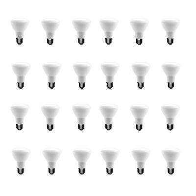 50-Watt Equivalent BR20 Dimmable LED Light Bulb Soft White (24-Pack)