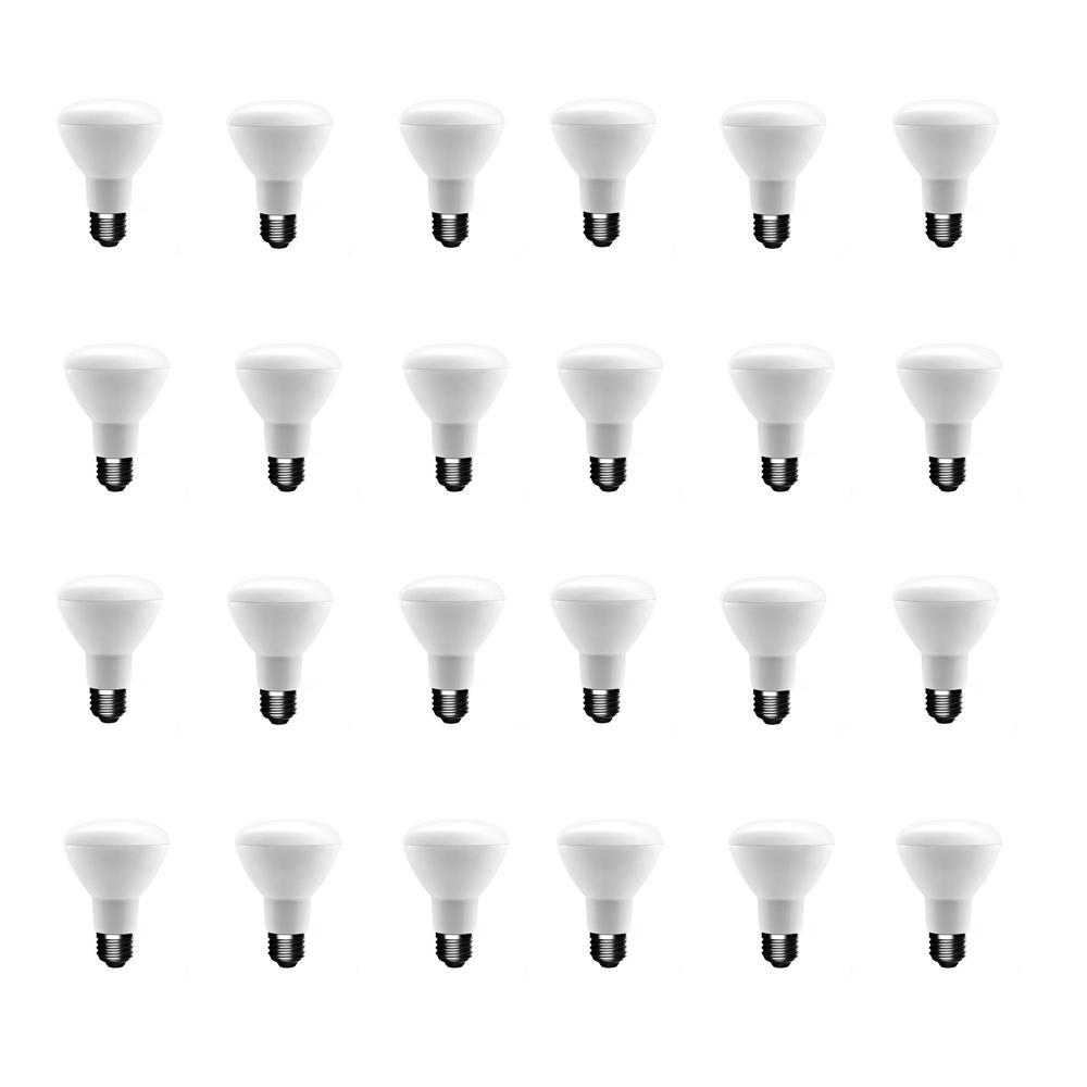 50-Watt Equivalent BR20 Dimmable LED Light Bulb Soft White (24-Pack)