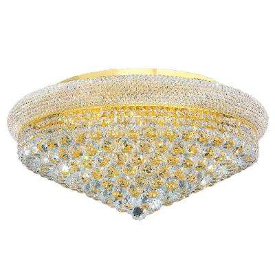 Empire Collection 15-Light Crystal and Gold Ceiling Light