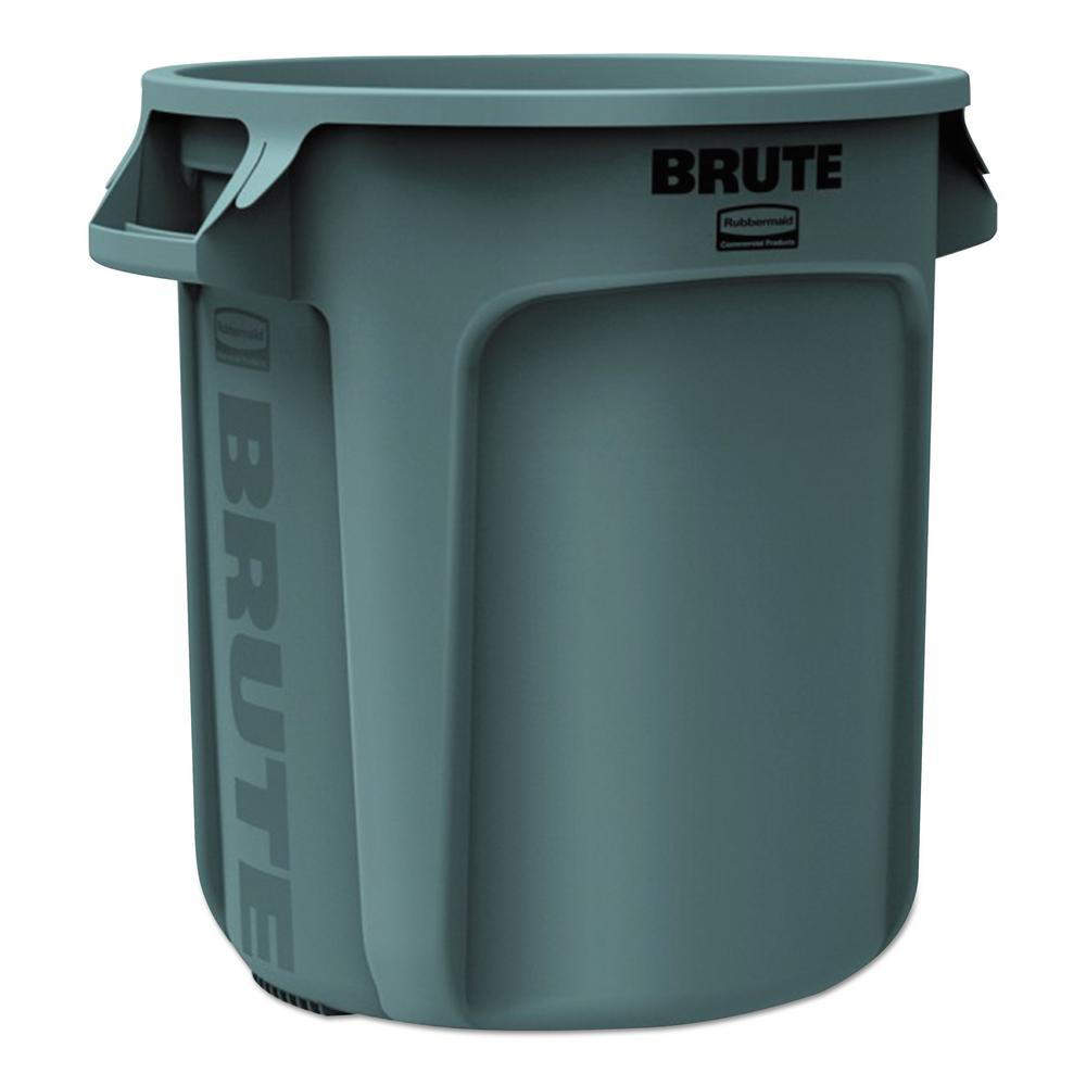 Rubbermaid Commercial Products Brute 10 Gal Grey Round Trash Can Rcp2610gra The Home Depot