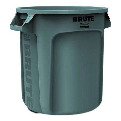 Brute 10 Gal. Grey Round Trash Can