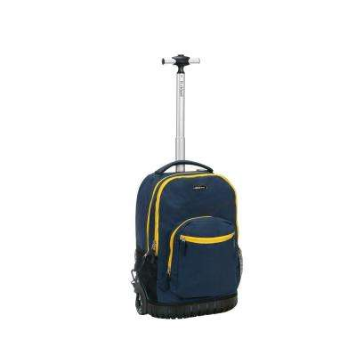 Rockland Sedan 19 in. Rolling Backpack, Navy