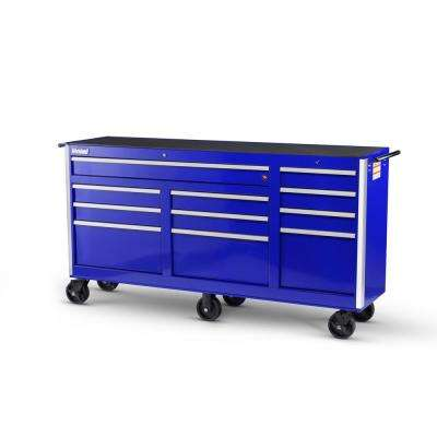 Tech Series 73 in. 11-Drawer Roller Cabinet Tool Chest Blue