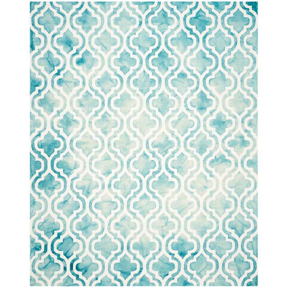 Safavieh Dip Dye Gray Turquoise Area Rug Reviews: Safavieh Dip Dye Turquoise/Ivory 8 Ft. X 10 Ft. Area Rug