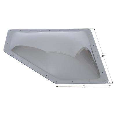 New Angle RV Skylight, Outer Dimension: 34 in. x 16 in.