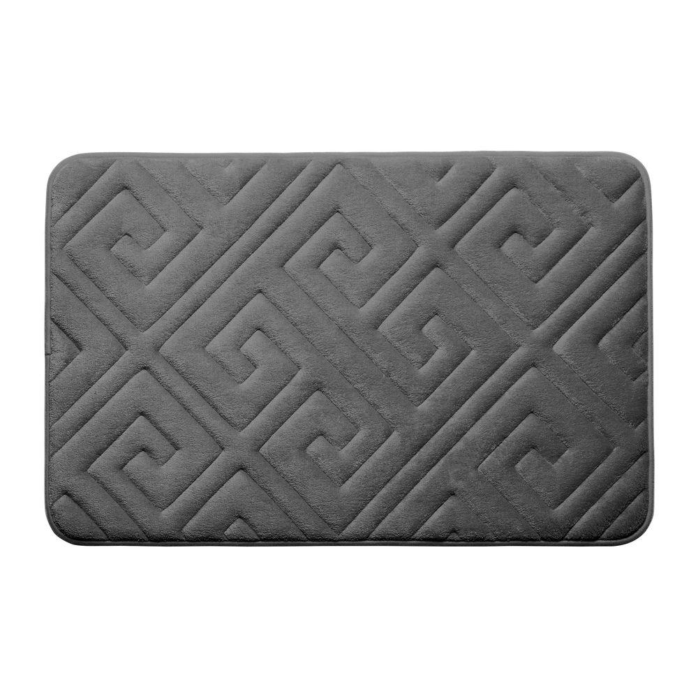 Caicos Dark Gray 17 in. x 24 in. Memory Foam Bath