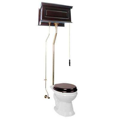 Renovators Supply Manufacturing Hardwick High Tank Single Flush 2 Piece 1 6 Gpf Round Bowl Toilet In White With Tank And Brass Pipes Seat Not Included 13029 The Home Depot