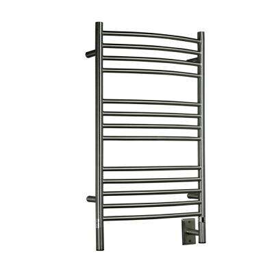 Jeeves C-Curved 20.5 in. W x 33 in. H 13-Bar Electric Towel Warmer in Brushed Stainless Steel