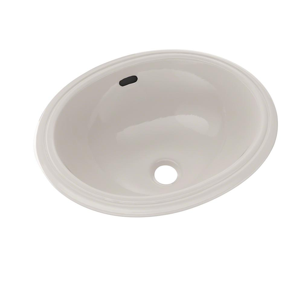 Oval Undermount Bathroom Sink In Sedona Beige