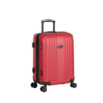 Moraga 22 in. Red 8-Wheel Hard Side Spinner Luggage