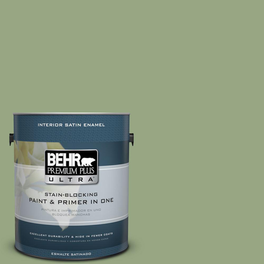 BEHR Premium Plus Ultra 1-gal. #M380-5 Hillside Grove Satin Enamel Interior Paint