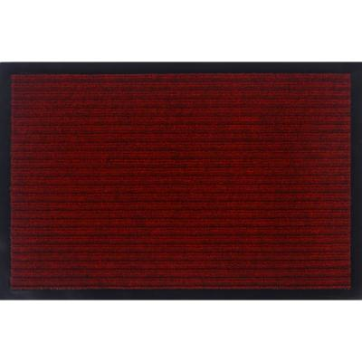 Otto Grip Collection Red 16 in. x 24 in. PVC Backing Solid Indoor/Outdoor Doormat