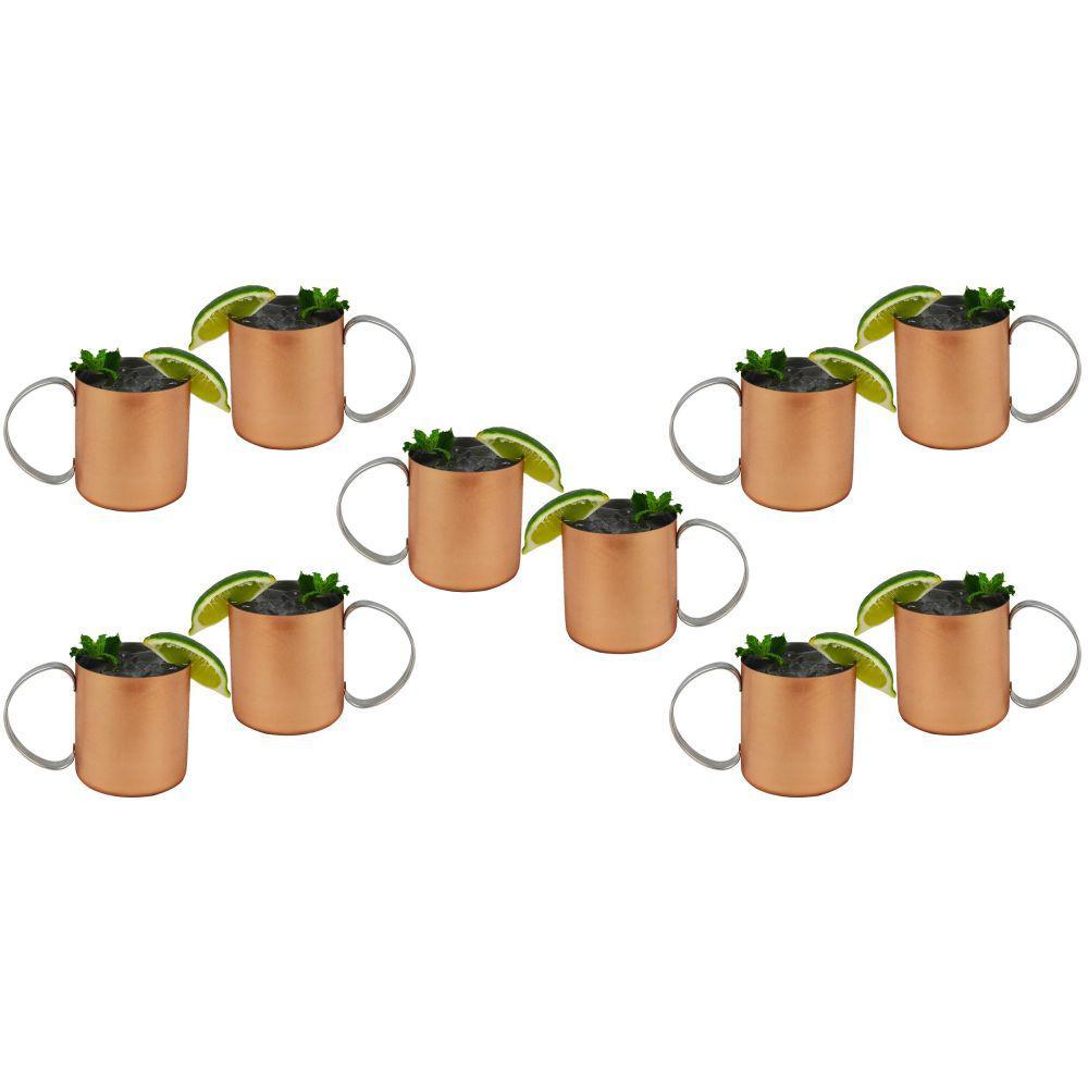Moscow Mules 12 oz. Copper Mug (Set of 10)