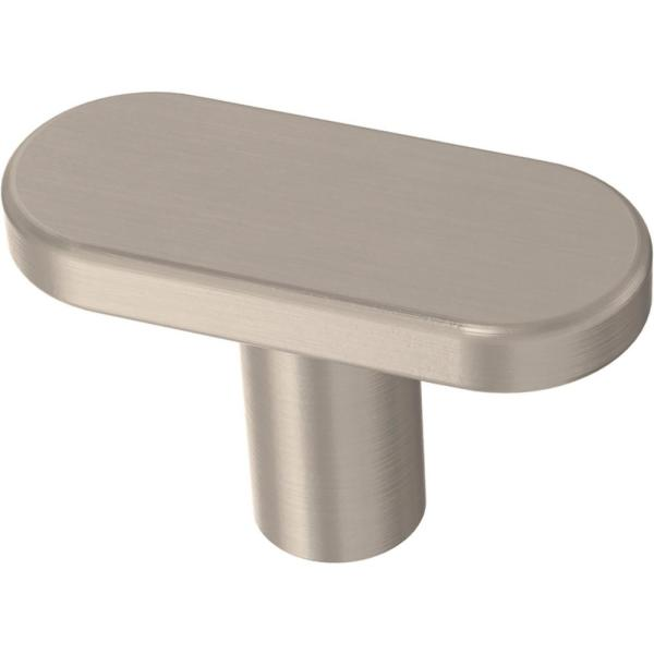 Simply Refined 1-19/32 in. (40 mm) Satin Nickel Cabinet Knob