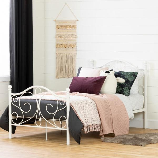 South Shore Summer Breeze White Twin Bed