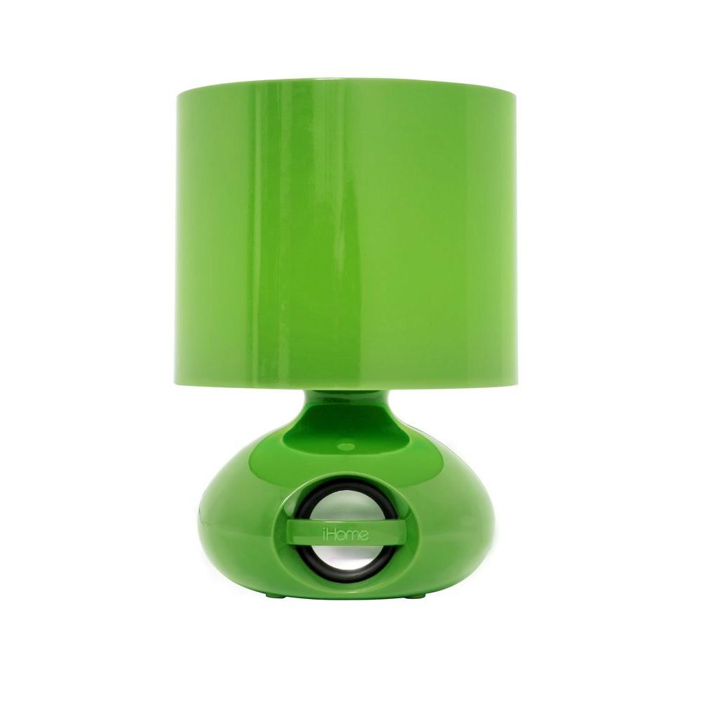 IHome 8.5 In. Green LED Speaker Desk Lamp