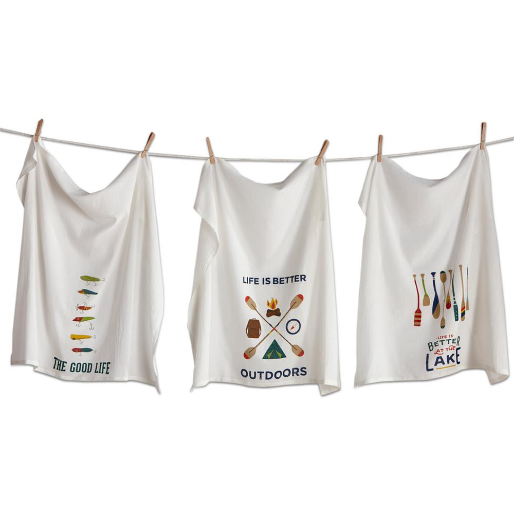 28 in. x 29 in. Multicolored Cotton Outdoors Flour Sack D...