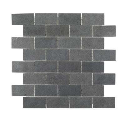 Whiskey Stones 12.375 in. x 12.875 in. x 8 mm Natural Stone Mosaic Tile