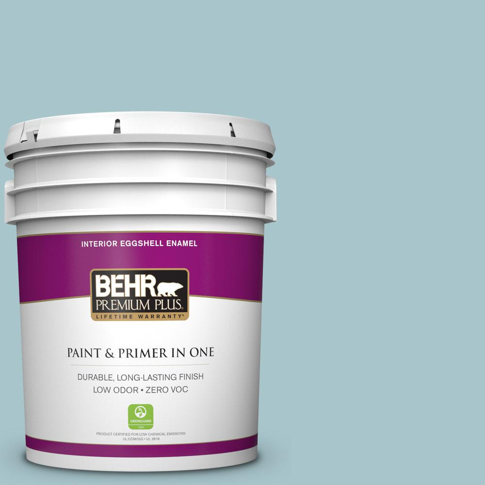BEHR Premium Plus 5-gal. #S450-3 Spring Storm Eggshell Enamel Interior Paint