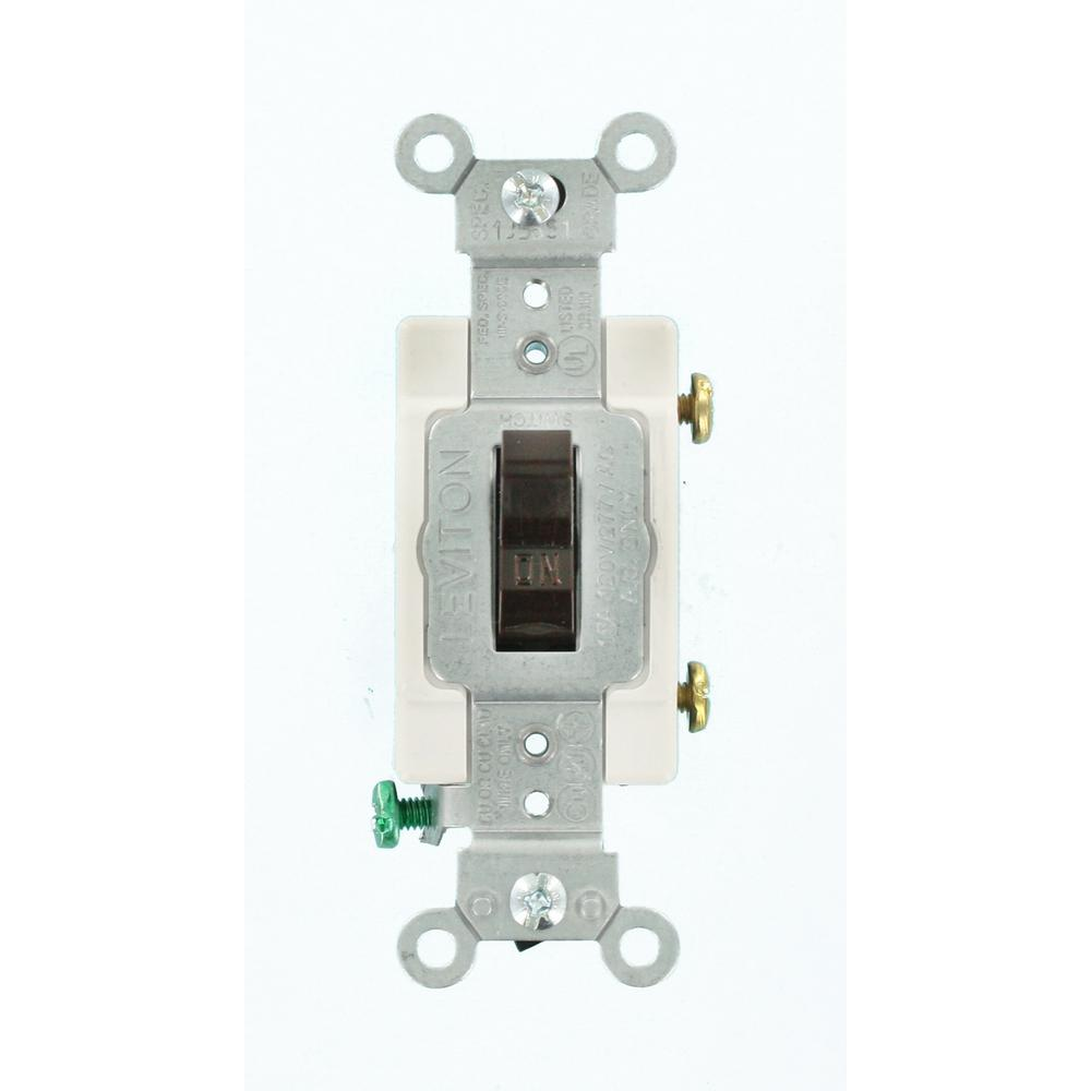 Leviton 15 Amp Illuminated Toggle Switch Clear R50 01461 0lc The Hubbell 3 Way Wiring Commercial Grade Single Pole Brown