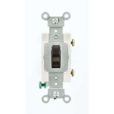 15 Amp Commercial Grade Single Pole Toggle Switch, Brown