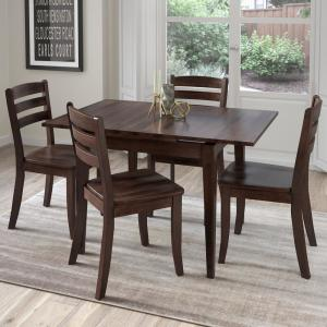 International Concepts Dining Essentials 5-Piece Black and Cherry ...