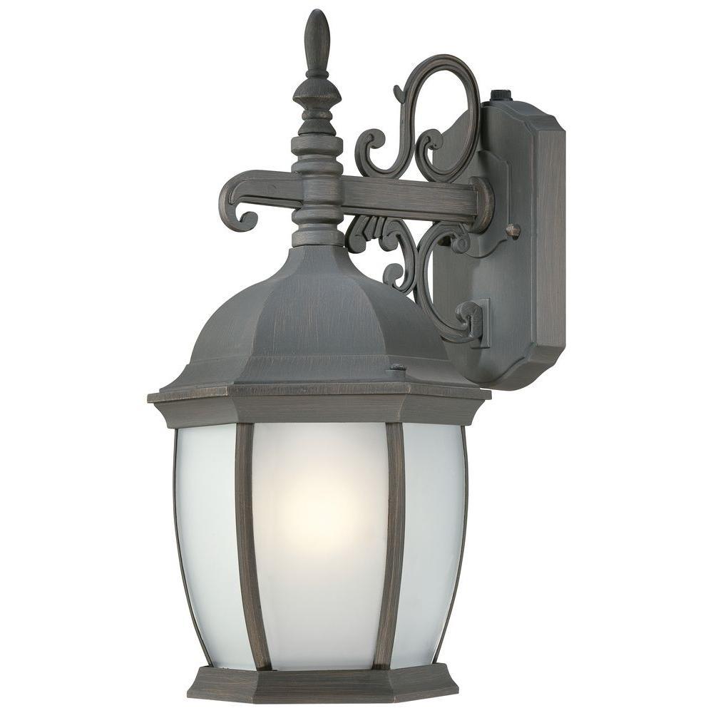 Thomas Lighting Covington Wall-Mount 1-Light Outdoor Painted Bronze Lantern-DISCONTINUED