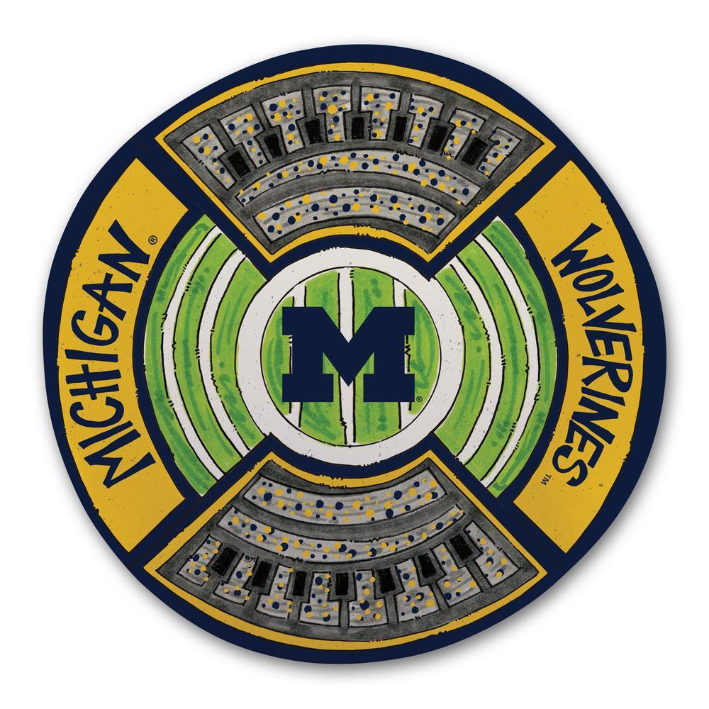 Michigan Football Stadium Melamine Platter