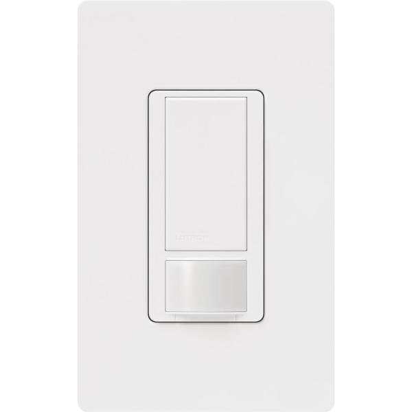 Maestro Motion Sensor switch with Wallplate, 5 Amp, Single-Pole, White
