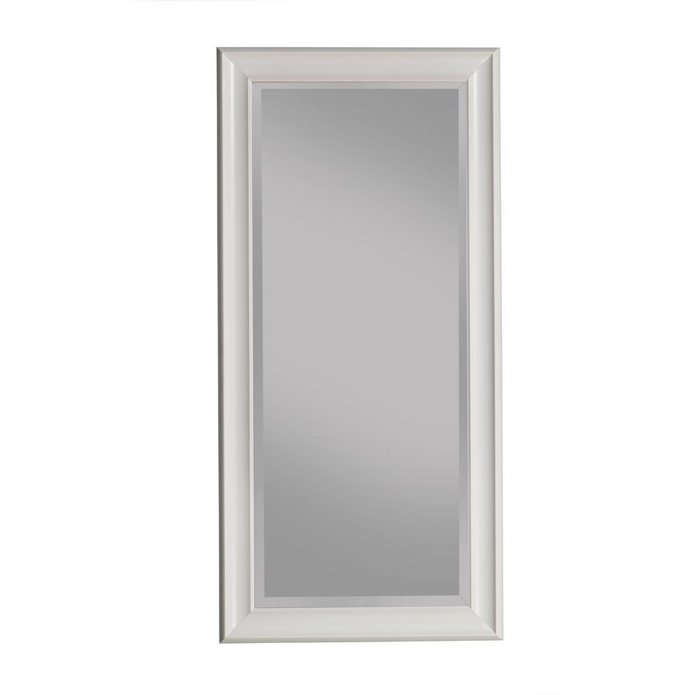 Oversized White Plastic Beveled Glass Full-Length Classic Mirror (65 in. H X 31 in. W)