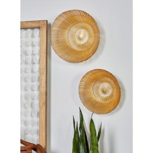 Round Gold Aluminum Wall Decor (Set of 3) by