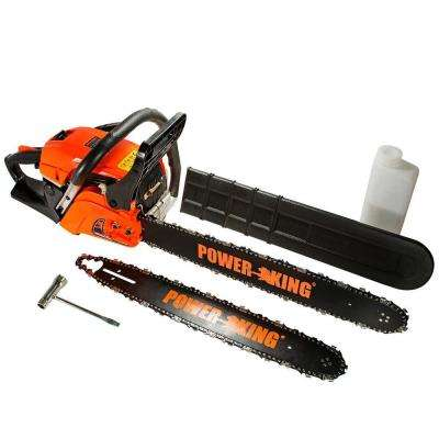 22 in. and 18 in. 57cc Heavy Duty Gas Chainsaw Combo, Antivibe System