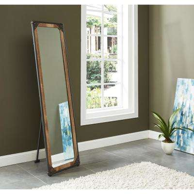 Munro Rectangle S and Black Rustic Standing Floor Mirror