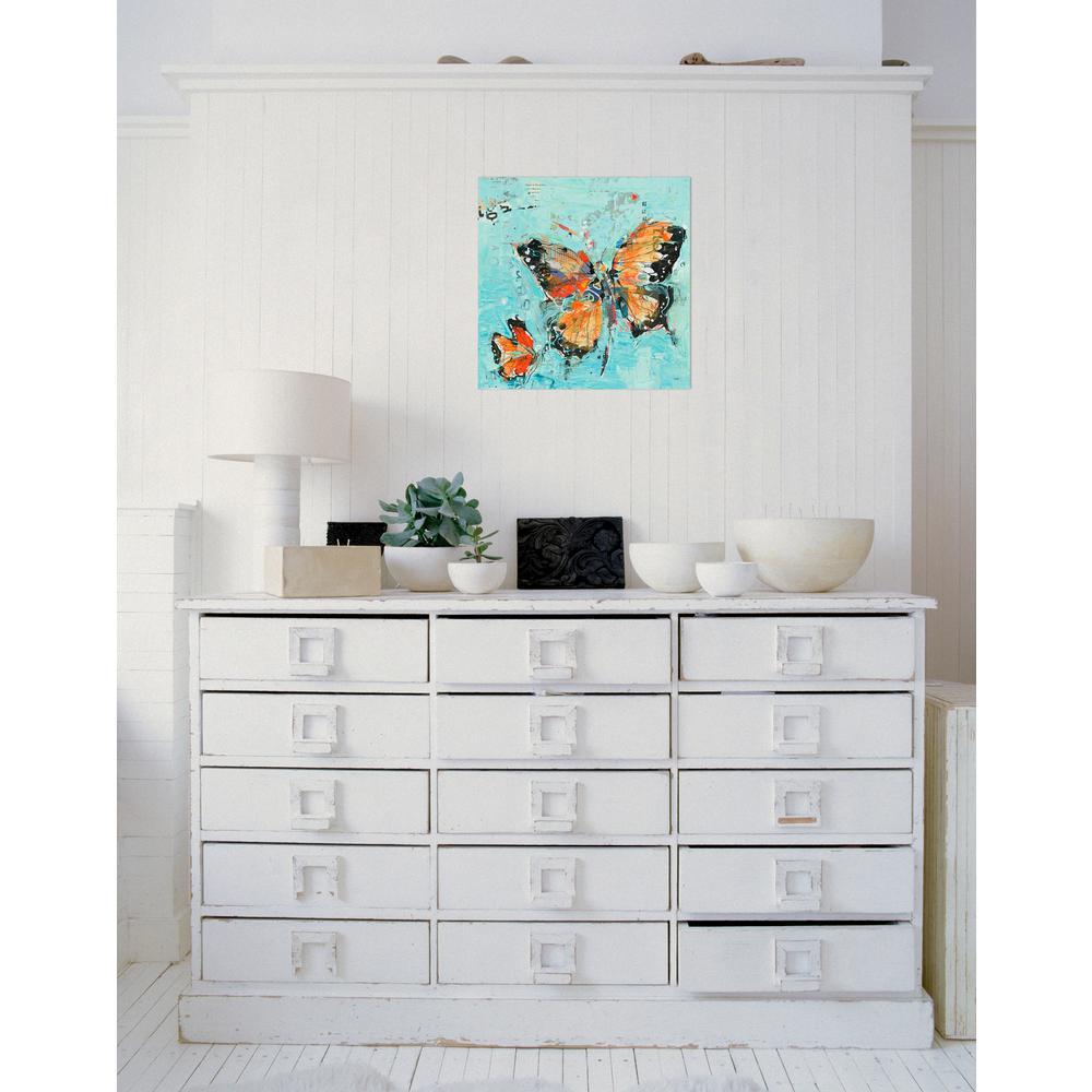 Bugs & Butterflies - Blue - Canvas Art - Wall Art - The Home Depot